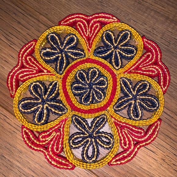 Boho woven trivet